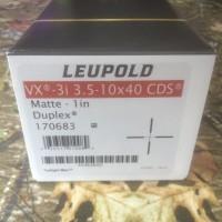 LEUPOLD VX-3i 3.5-10x40 CDS Matte-1 in Duplex 170680 / Telescope