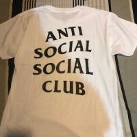 Assc tee anti social club kaos original ori logo 2 white