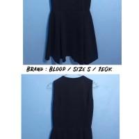 """Dress merk """"bloop"""" warna biru dongker size s"""