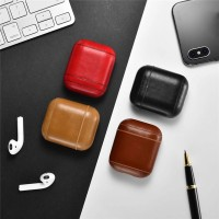 Genuine Leather Headset Case Protect Bag Cover For Apple AirPods