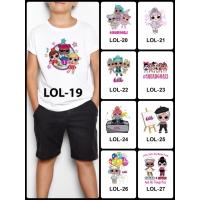 Kaos / Baju Anak Desain LOL Surprise 1-9 (Free Custom Nama) Print DTG