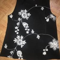 Baju atasan wanita warna hitam bunga