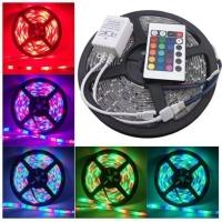 Lampu led strip ip44 rgb 5050 warna warni komplit