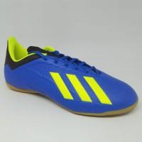 Sepatu futsal adidas original X tango 18.4 IN biru stabilo new 2018