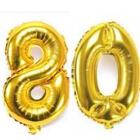 Balon foil angka jumbo 80cm