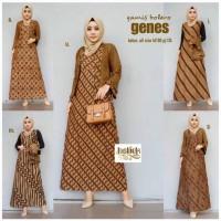 GAMIS BOLERO GENES/Gamis Batik Kerja/Long Dress Batik Kantoran/Terusan