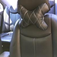 Bantal Jok Mobil Kulit Headrest Bantalan Kepala Sandaran Jok Mobil