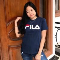 T-shirt / kaos cewek / baju wanita / tumblr tee / kaos Fila navy