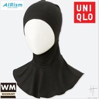 UNIQLO AIRism Hana Tajima Bandana Dalaman Hijab Jilbab Black Hitam