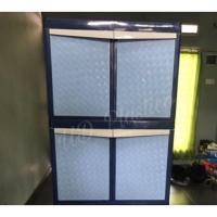Lemari plastik lemari pakaian serbaguna lemari anyaman susun 2