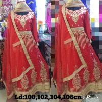 Gamis baju india gown lahenga lengga india Modern bollywood pesta mewa