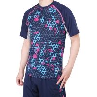 Baju Futsal Olahraga Badminton 1002 Navy - Navy, S