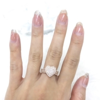 2GR cincin diamond looks model hati mewah fashion emas asli