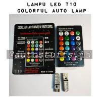 Lampu LED Senja Remote T10/LED Senja Remote T10 RGB/Lampu Mobil+++....