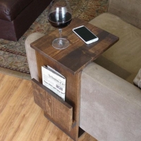 Meja Sofa D / Arm Rest Sofa Table / Laptop / Majalah / Kerja / Tray