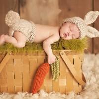 Kostum rajut foto bayi #Bunny set carrot