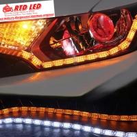 Drl led Crystal Running sein Lampu Alis Crystal A2 Premium Quality Ori
