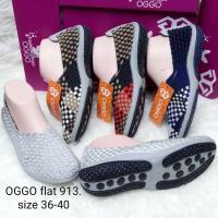 Sepatu OGGO flat rajut/anyaman tipe 913 women