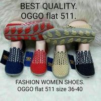 Sepatu OGGO flat rajut/anyaman tipe 511 women