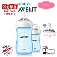 Botol susu Avent Philips milk bottle natural 260ml 260 ml Blue TWIN