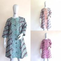 SALE Outer Jaket Panjang Batik Cap Parang Coat Jaket Batik