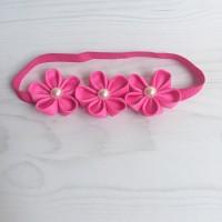 Bandana anak sakura pink headband baby