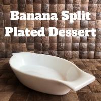 Piring Keramik Banana Split / Piring Es Krim / Piring Saji Dessert
