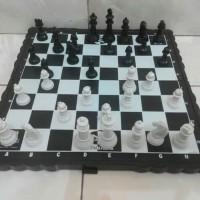 Papan catur permainan kayu board game ukuran jumbo XL besar bidak pion