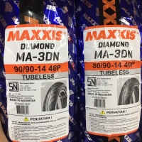 BAN MAXXIS DIAMOND MA3DN sepasang 80/90-14 & 90/90-14