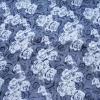 Kain print Fashion wanita bahan sifon motif bunga mawar kode 06