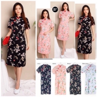 Cheongsam Dress Qipao Baju Wanita CNY Imlek Lunar Shirt 1690