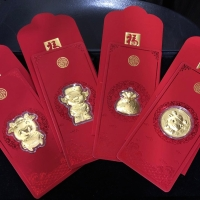 1 pcs angpao emas Hongkong 24K shio babi