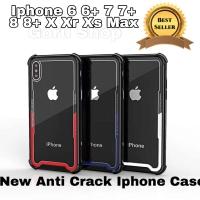 Anti crack case glass premium iphone 6 6s plus 7 8 plus X anti shock