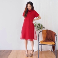 Cheongsam Tile Dress Baju Wanita Imlek Chinese New Year Shirt 1779