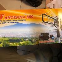 Antena TV Outdoor dengan Remote + Booster dan + Kabel antena pf 850