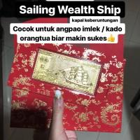 Angpao Emas / Gold 24 Karat Kapal / Ship 1 Gram