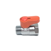Stop kran 1/2 mini ball valve sisi kuningan chrome
