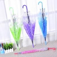 Payung tongkat transparan motif sakura