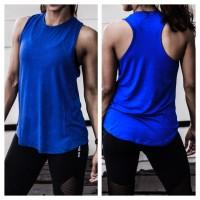 Baju Senam Olahraga Gym Fitness untuk Yoga Zumba Murah Tank Top Wanita