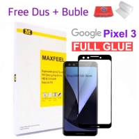 MAXFEEL Tempered Glass Google Pixel 3 Full Cover Full Glue