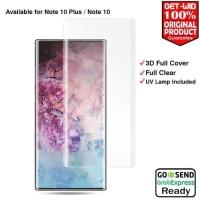 TEMPERED GLASS KACA UV GLUE CURVE SAMSUNG Note 10 plus Nano scale ligh