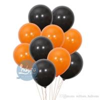 [10 pcs] Balon Hitam - Balon Orange - Balon Doff Balon Halloween