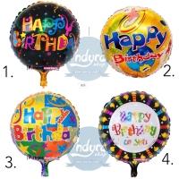 Balon Foil Happy Birthday (hbd) Motif - No.1