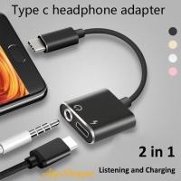Splitter USB Type-C Audio Charging Adapter Convertor 2 in 1 3.5mm Jack