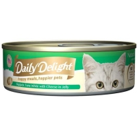 Daily Delight Can Food for Cat 80gr - JELLY CHEESE