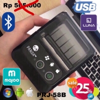MINI PORTABLE PRINTER PPOB/KASIR 58MM THERMAL PANDA-58B(USB+BLUETOOTH)