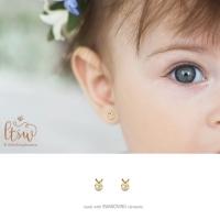 Anting Anak Littlethingshewear Bunny Swarovski Toddler