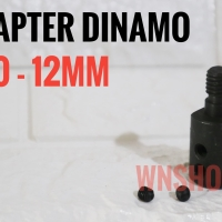 Adapter Dinamo 12mm Jadi Gerinda - adaptor konektor converter arbor