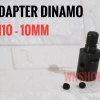 Adapter Dinamo 10mm Jadi Gerinda - adaptor konektor converter arbor