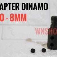 Adapter Dinamo 8mm Jadi Gerinda - adaptor konektor converter arbor